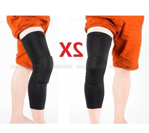2Pcs Basketball Knee Leg Sleeves Sports Crashproof