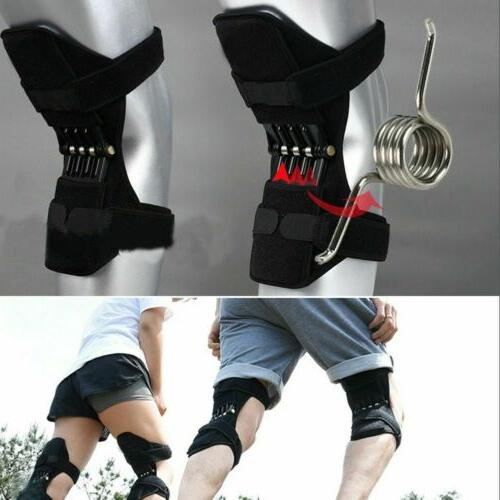 2pcs Joint Support Knee Pads Booster Squat Spring New
