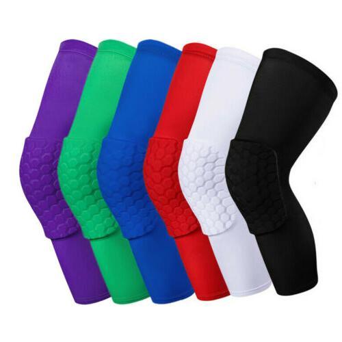 Men Youth Pad Honeycomb Leg Support Knee Sleeve Braces Sport