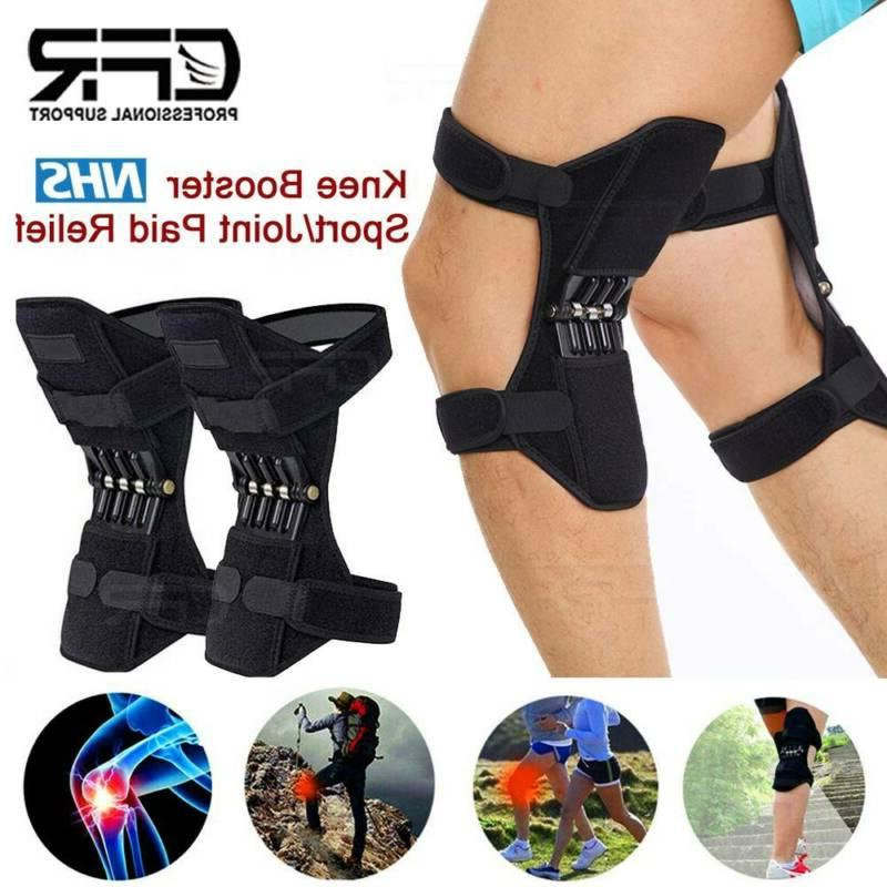 2x joint support brace knee pads booster