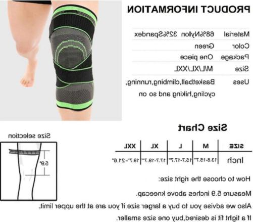 3D Pad Support Compression Sleeve NEW