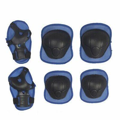 6/7Pcs Knee Pads Helmet For Kids Bike
