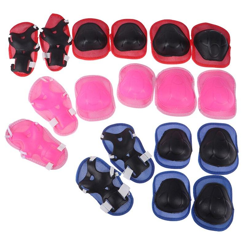 6pc/set <font><b>Pads</b></font> <font><b>Skateboard</b></font> Skate <font><b>Knee</b></font> Protector For Kids Gift Adjustable Protective Gear Set