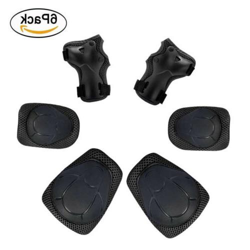 6pcs Protective Gear Sets Elbow Knee Pads Bike Cycling For A