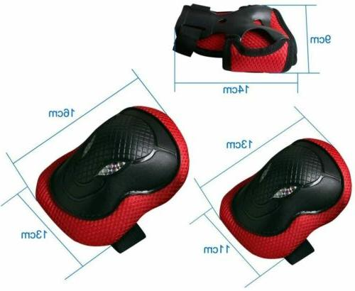 6Pcs Elbow Wrist Pads Guards For Skate Cycling Safety Gear Set