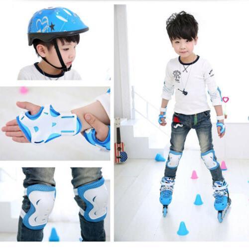 6pcs Skating Skateboard Protector Gear Elbow Wrist