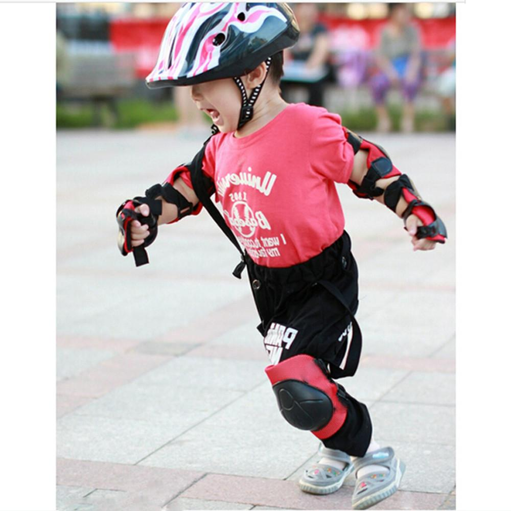 6PCs/Set Kids Roller <font><b>Skateboard</b></font> Bicycle Elbow Cover Gear For