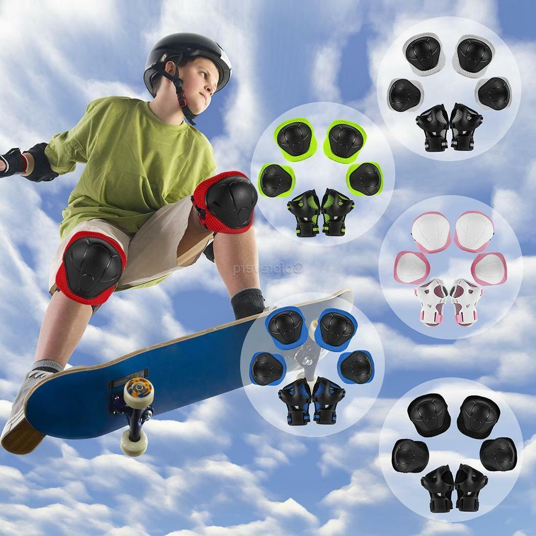6pcs skating protective gear sets elbow knee
