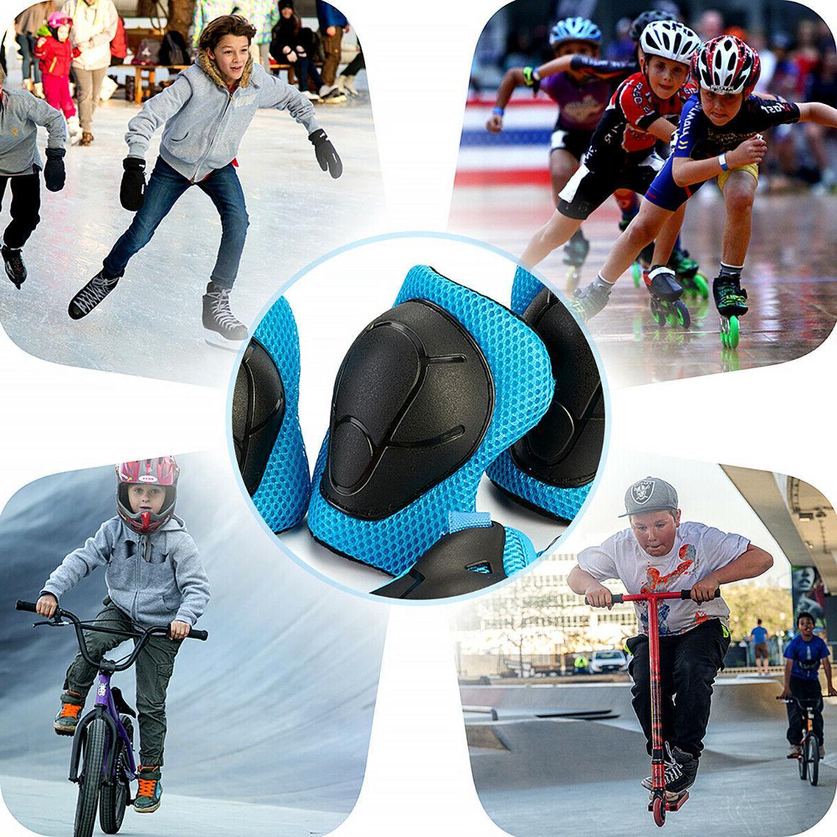 US Set Pads Bike Skateboard For Kid Blue