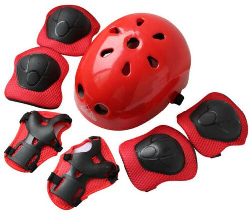 7pcs Skating Protective Gear Sets Elbow Knee Pads Bike Skate