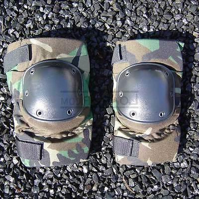 Knee Pads All Terrain Tactical USGI Military Woodland Camo L