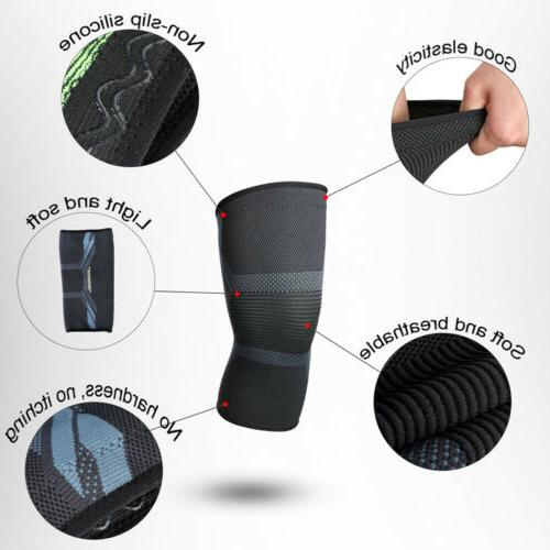 A Pair Sport Knee Support Pads Basketball Elastic