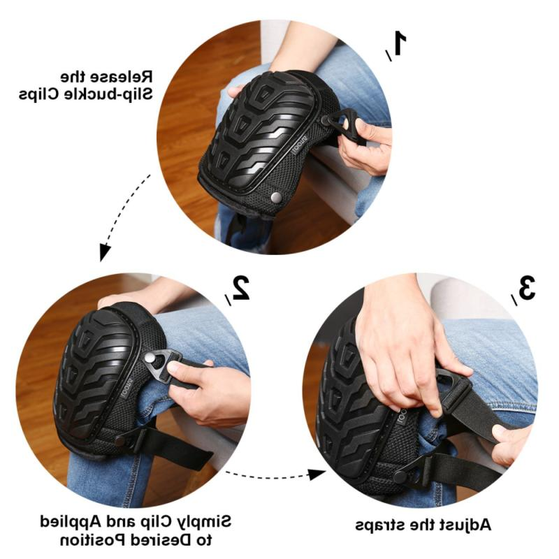 Adjustable Gel Knee for Work Heavy Foam
