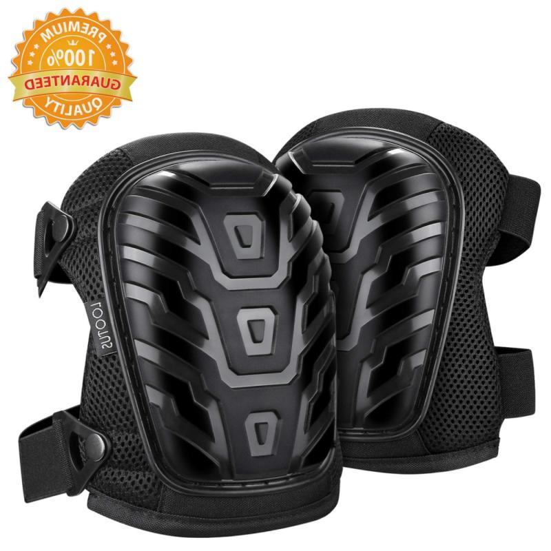 adjustable gel knee pads for work heavy