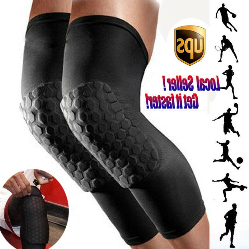Men Pad Honeycomb Leg Support Braces Sports
