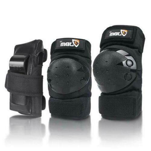 Adult Knee Pads Guards 3 in Protective Set,Skateboarding