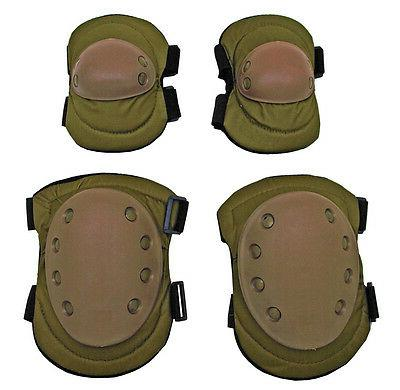 Advanced Tactical Elbow & Knee Pads Set Airsoft Tactical Saf