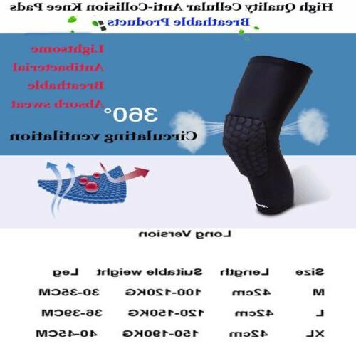Basketball Knee Honeycomb Knee Protective Support