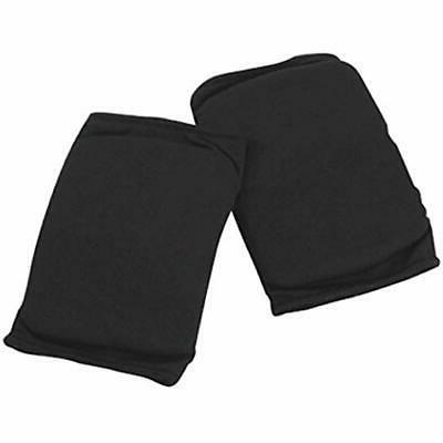 black cheerleading clothing and dance knee pads