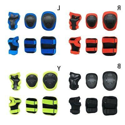 Kids BMX Bike Knee Pads and Elbow Pads w/ Wrist Guards 6PCS