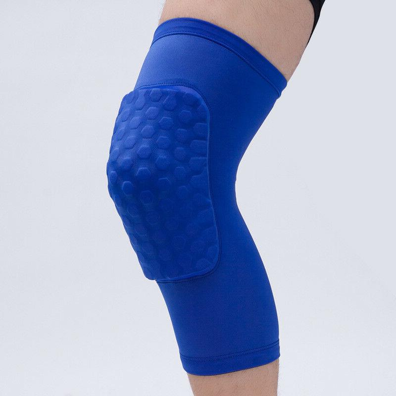 Compression Knee pad Brace Extended Support Leg Sleeve Hexpa