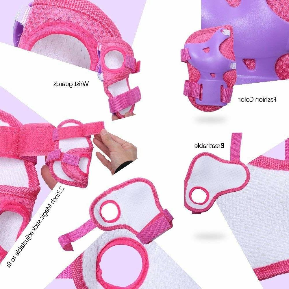 eNilecor Kids Roller Elbow Knee Pads Guard Gift