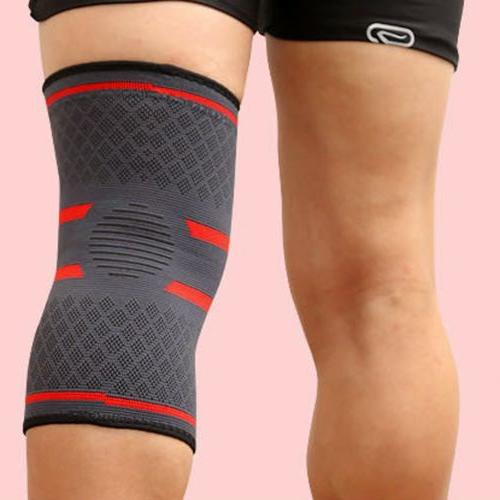 Elastic Compression Sleeve Support Knee Basketball Running E
