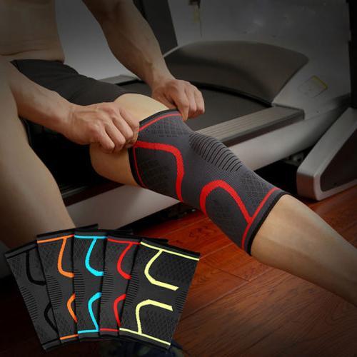 elastic compression sleeve knee support brace knee