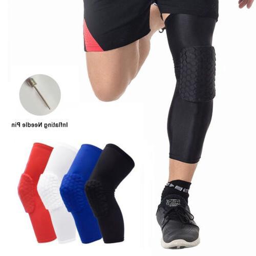 Honeycomb Padded Knee Sleeves Basketball Volleyball Knee Pad