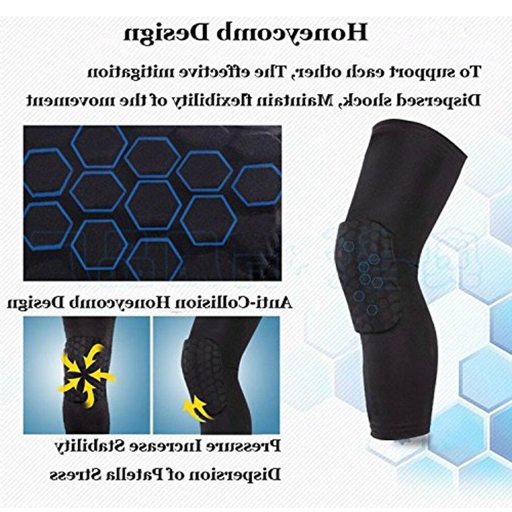 HOT Basketball Honeycomb Leg Knee Protective Support Guard