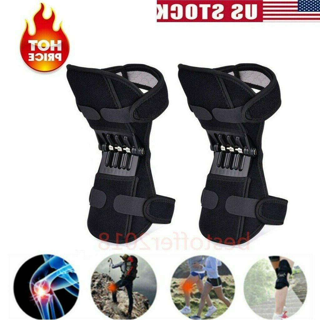 2/1pc Joint Support Brace Knee Pads Booster Outdoor Squat Hi