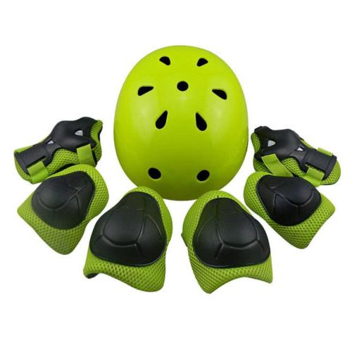 kid protective gear set helmet knee pads