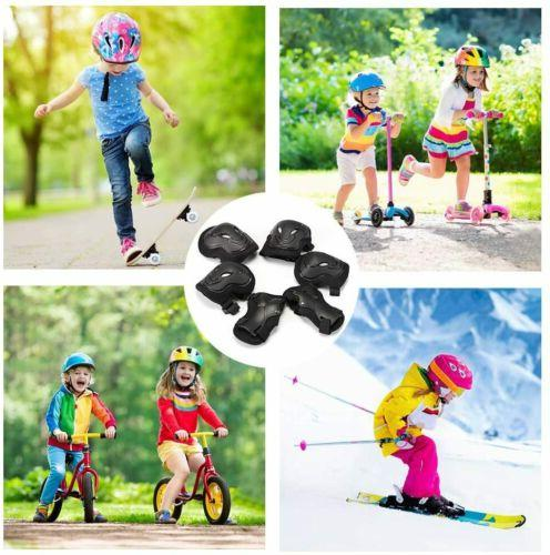6Pcs Knee Pads For Kids Skate Safety Gear