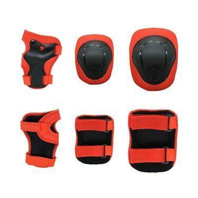 6Pcs Kids BMX Bike Knee Pads and Elbow Pads With Wrist Guard