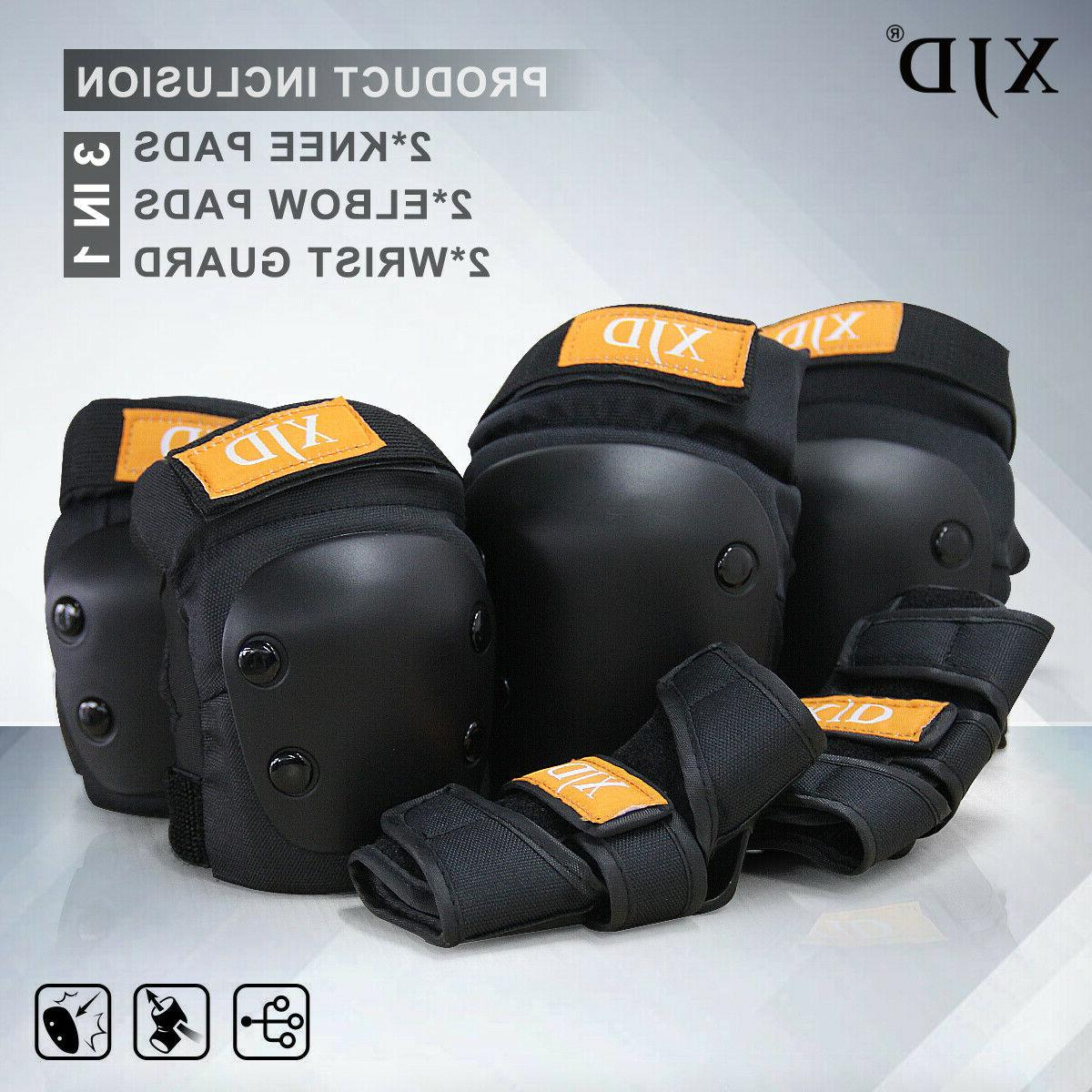 XJD Kids Protective Gear Set 3 in 1 Knee Pads Elbow Pads Wri