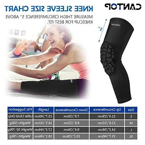 Cantop Knee Brace Support Knee Pain Men and Basketball Volleyball Rugby Lacrosse, Pack