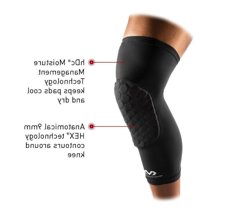 McDavid Medium Compression Knee Pads 6446 Leg Sleeve Hex Knee Pads Sports