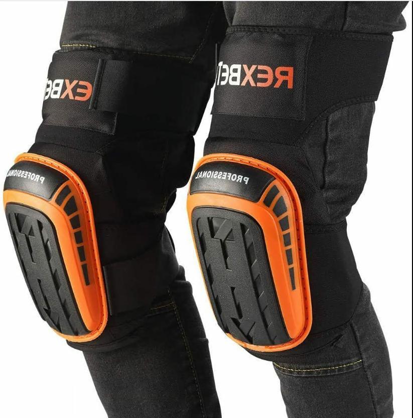 Knee Pads Construction Gel Knee Tools REXBETI, Duty Comf