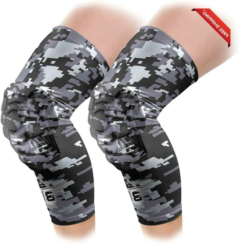 Bucwild Sports Knee Pads/Padded Compression Pro Knee Sleeves