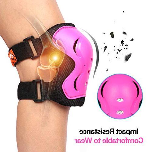 eNilecor Kid's Skating Roller Blading Wrist Elbow Knee Blades Gift for Children's Christmas Pack