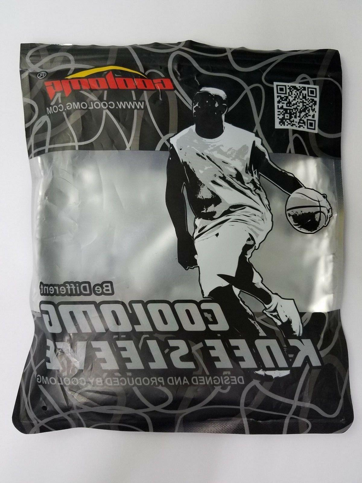 coolomg knee sleeve black extra small 1 per package Sports