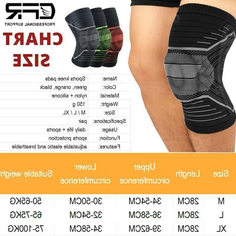Knee Support Brace Compression Sleeve Gym Sports Pad