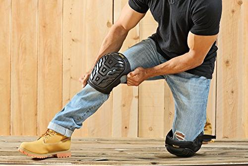 PWR PADS Knee Pads Gel Foam and Enhanced for Premium Heavy Material for Upgraded Comfort
