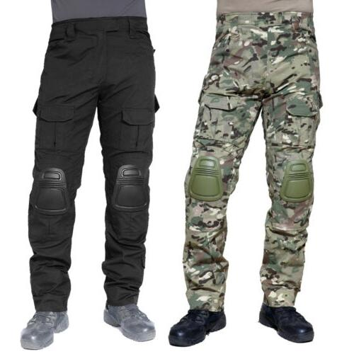 Mens Tactical Army Combat Police Camo Pants Outdoor Training