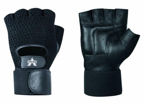 mesh material handling fingerless gloves