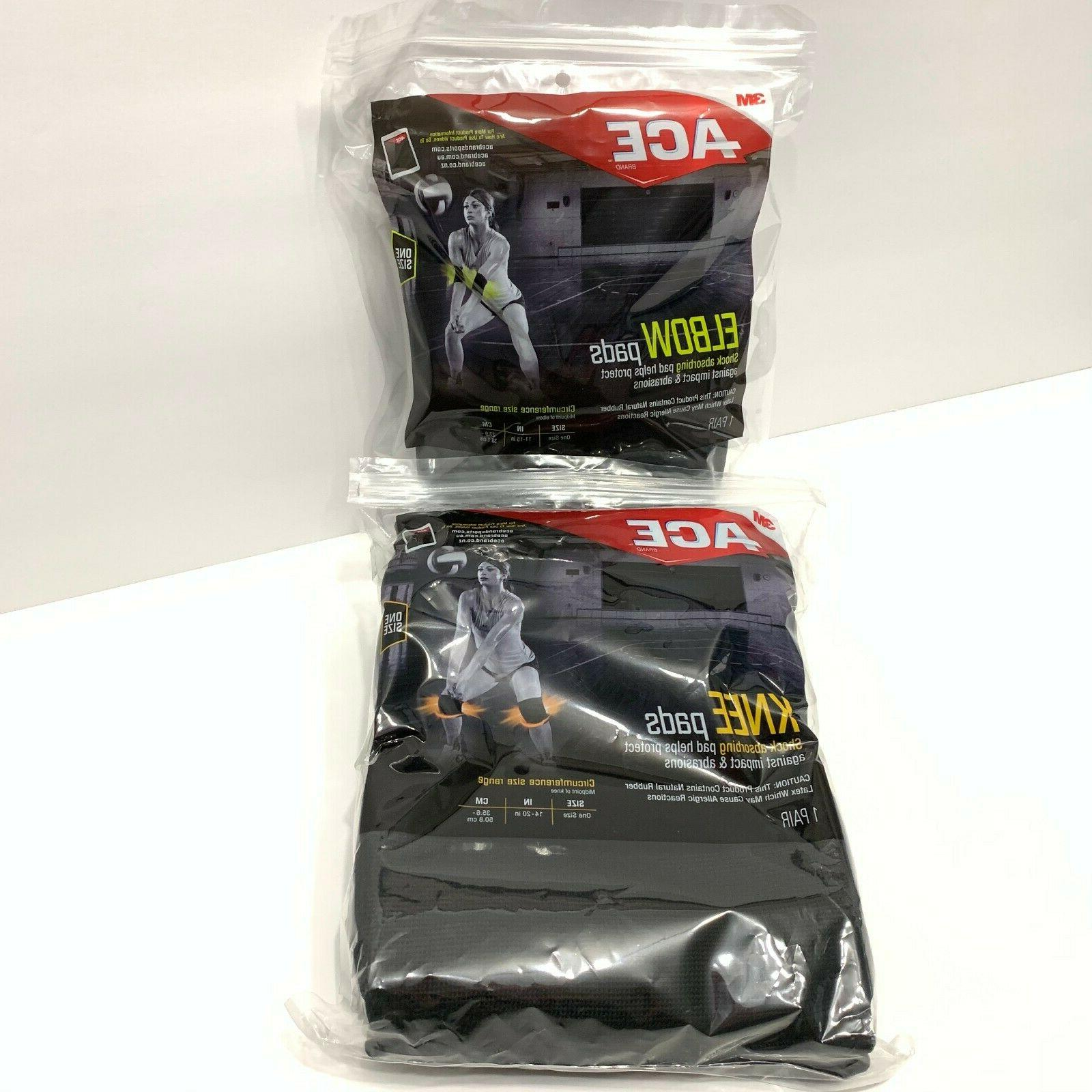 Ace 3M Pack of 1 Pair 1 Pair Knee One Size Black