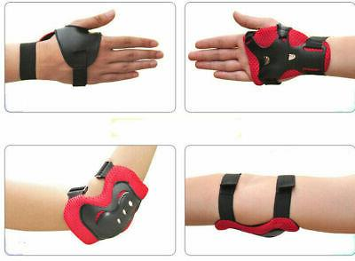 Set Elbow Wrist Knee Sport Safety Protective Gear Guard Kids