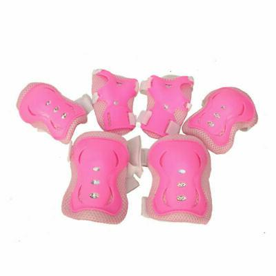 Set of 6 Elbow Wrist Knee Pads Sport Protective Guard