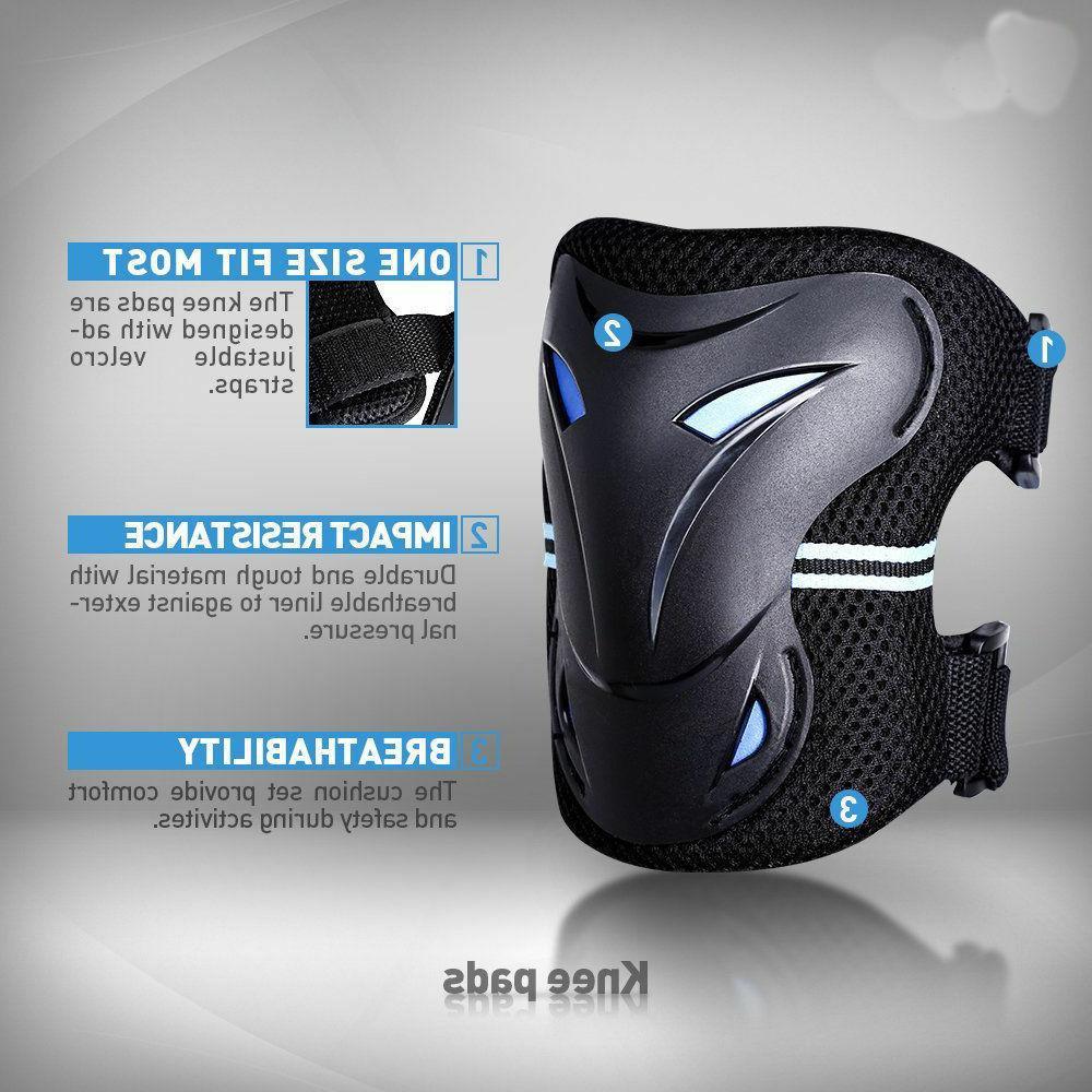 6 Pcs Protective Gear Wrist Knee