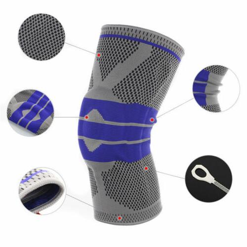 Breathable High Compression Silicone Knee Sleeve